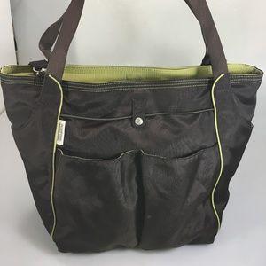 Ellington Brown Green In Flight Carry-On Tote Bag